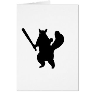 """Angry squirrel says; """"Bring It."""" Card"""