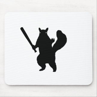 """Angry squirrel says; """"Bring It."""" Mousepad"""