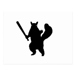 """Angry squirrel says; """"Bring It."""" Postcard"""