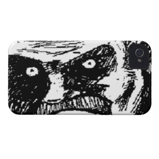 Angry Stare comic face iPhone 4 Cover