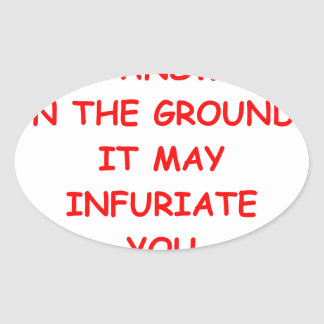 angry oval sticker