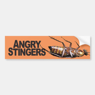 Angry Stingers - Bumper Sticker