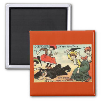 Angry Suffragists 2 Inch Square Magnet