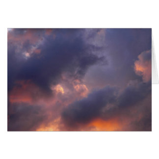 Angry Sunset Over Pittsburgh Stationery Note Card
