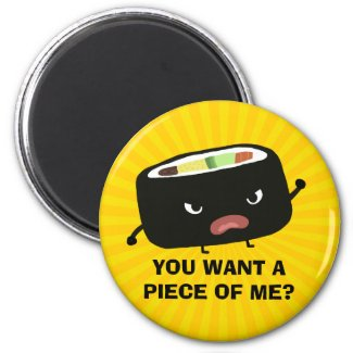 Angry Sushi Magnet