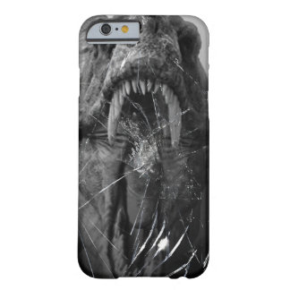 Angry T-Rex, Tyrannosaurus Attacking, broken glass Barely There iPhone 6 Case
