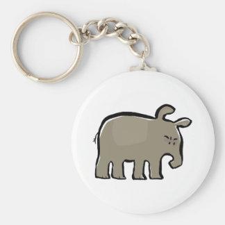 angry tapir keychain