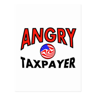 ANGRY TAXPAYER POST CARD