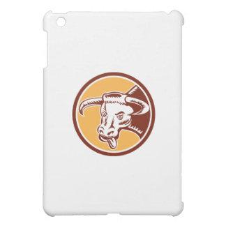 Angry Texas Longhorn Bull Head Woodcut Cover For The iPad Mini