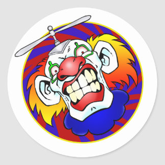 Angry the Clown Classic Round Sticker