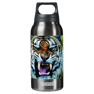 Angry Tiger Abstract Animal Print Africa Insulated Water Bottle