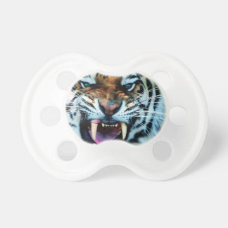Angry Tiger Abstract Animal Print Africa Pacifier