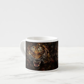 Angry Tiger Breaking Glass Yelow Espresso Cup