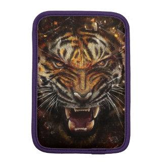 Angry Tiger Breaking Glass Yelow iPad Mini Sleeve