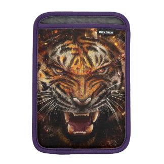 Angry Tiger Breaking Glass Yelow iPad Mini Sleeves