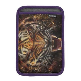 Angry Tiger Breaking Glass Yelow Sleeve For iPad Mini