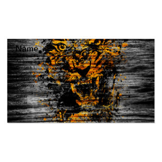 Angry Tiger Double-Sided Standard Business Cards (Pack Of 100)
