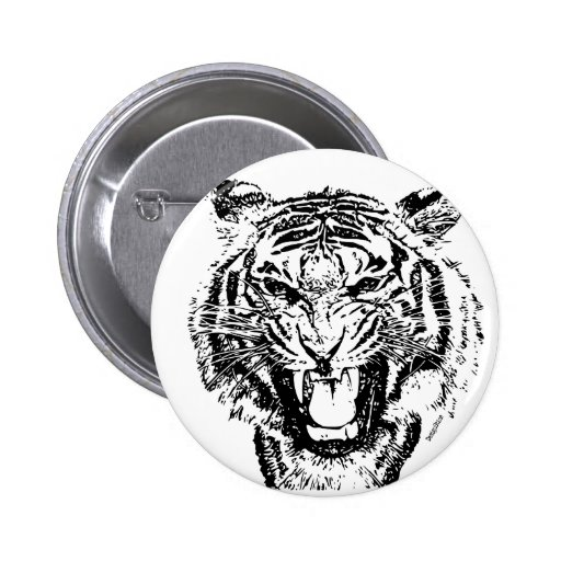 Angry Tiger Button