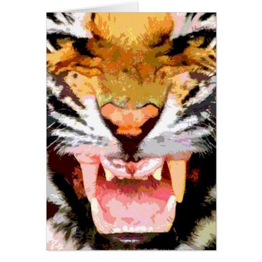 Angry Tiger - Eyes of Tiger Card