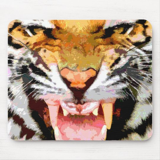Angry Tiger - Eyes of Tiger Mouse Pad