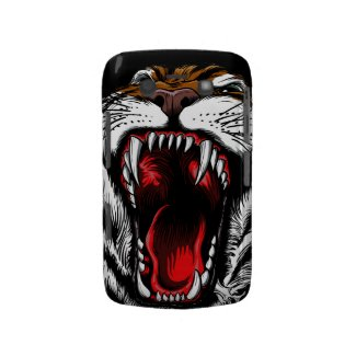 Angry Tiger Face Blackberry Bold Case