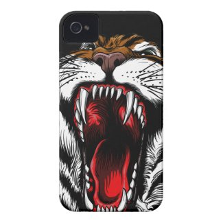 Angry Tiger Face iPhone 4 Case iPhone 4 Cases