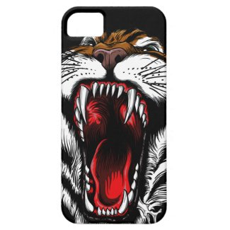 Angry Tiger Face iPhone 5 Case