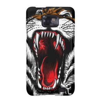 Angry Tiger Face Samsung Galaxy S2 Case