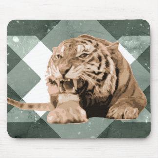 Angry Tiger Geometrics Mouse Pad