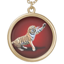ANGRY TIGER GOLD PLATED NECKLACE