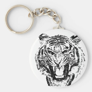 Angry Tiger - keychain