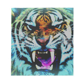 Angry tiger note pads