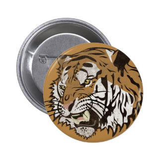 Angry Tiger Pinback Button