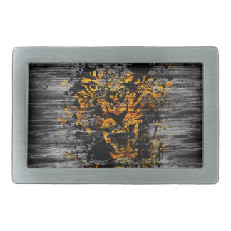 Angry Tiger Rectangular Belt Buckles