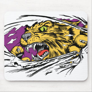 Angry Tiger Ripping Mouse Pad