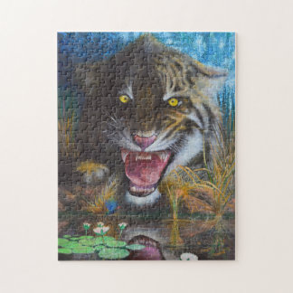 Angry tiger - Wild animal Puzzle