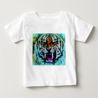 Angry tigre playera de bebé