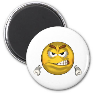 Angry - toon 2 inch round magnet