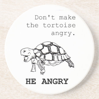 Angry Tortoise Drink Coasters