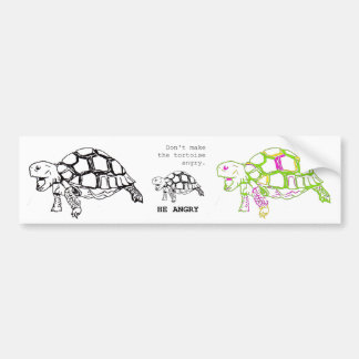 Angry Tortoise Drawing Bumper Sticker