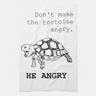 Angry Tortoise Hand Towel