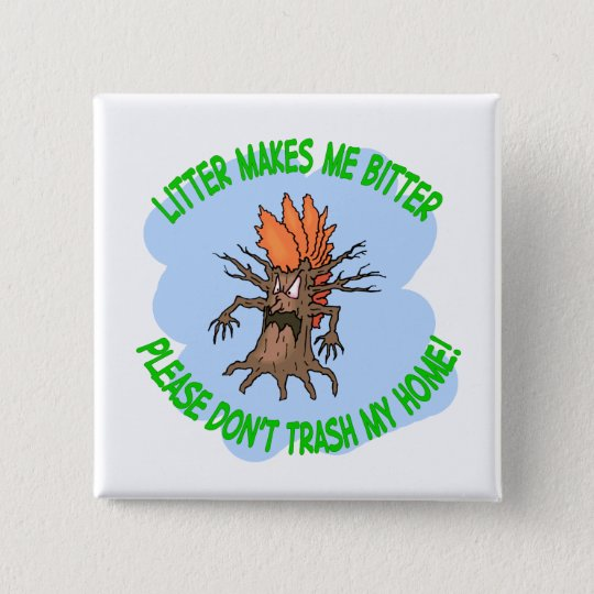 angry tree pinback button