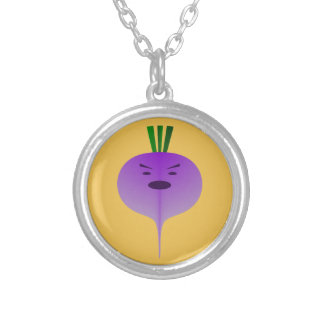 Angry Turnip Round Pendant Necklace