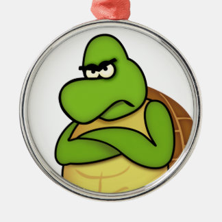 Angry Turtle/Angry Bird Metal Ornament