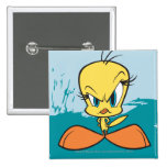 Angry Tweety 2 Inch Square Button