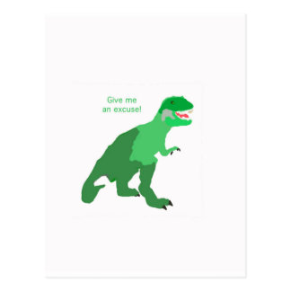 Angry Tyrannosaurs Rex Postcard