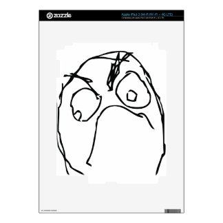 Angry Unhappy Meme Face Decals For iPad 3