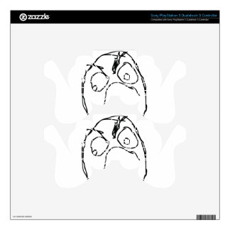 Angry Unhappy Meme Face PS3 Controller Skins