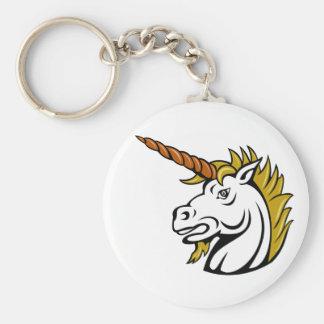 Angry Unicorn Keychain Basic Round Button Keychain