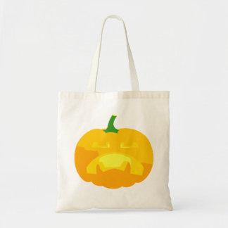 Angry Upset Jack-O-'Lantern Tote Bag